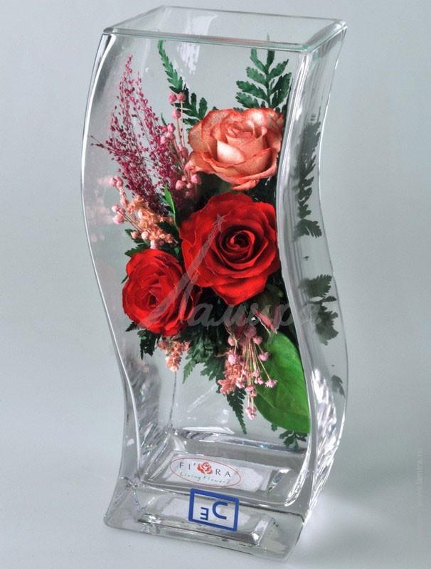 Композиции в стеклянной вазе своими руками из 811